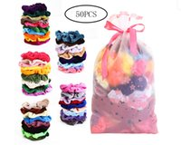 Gold Velvet Fashion Hair Accessories Head Ring Large Intestine Ring Factory Direct Sale Hair Scrunchies 50 Assorted Colors Scrunchies