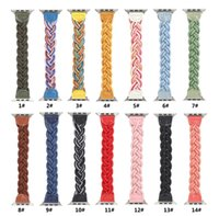 Colorful Fabric Braided Rope Strap for Apple Watch 40 44 38 42mm woman Adjustable Bracelet Band Watchband iWatch 5 4 3 2