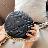 Luxurys Designer Totes Mini sac à main Sac à bandoulière Chian 2020 Nouveaux Femmes Cuir Sacs à main pour femmes Messenger rond Messenger Classic Sac à main Couleur à l'épaule
