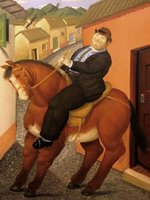 Жирный мужчина и живопись для лошади на холсте, черт возглавляет Home Decor Rackcrafts / HD Print Wall Art Picture Chatization допустимы 21062816