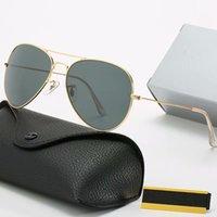 الفاخرة مصمم النظارات الشمسية الأزياء خمر الطيار الرجال النساء 58 ملليمتر uv400 جاستن الفرقة مرآة الزجاج بن الكلاسيكية مع الحالات