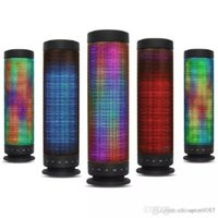LED Lamp Speaker HD Surround Sound Wireless Bluetooth Speakers Support 5 Colors Light Bass FM Radio TF Card Handsfree Call AUX Loudspeak