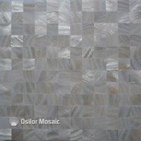 Fondos de pantalla blanca pura 100% natural chino cáscara de agua dulce madre de mosaico de perla para el baño de la pared de la decoración