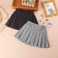Mode tutu jupe filles Noir / Blanc / gris Couleur Tulle Miniskirts Coton Printemps Teenage School Robes de billes pour enfants 210622