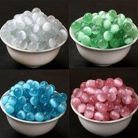 Blanco y azul Pink y verde semiacabados perlas sueltas ópicas sintéticas DIY DIY tejidas a mano de ornamentos Collar de pulsera