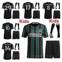 21-22 Youth La Galaxy Jersey Los Angeles Set Kids Funcer Chicharito Kljestan Loltget Seres Santos Depuy Vazquez Ibrahimovic Gerrard Doonovan футбольные наборы футболки