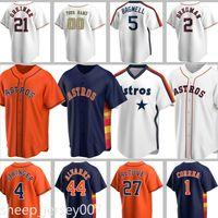 Benutzerdefinierte 27 Jose Altuve Trikots 5 Jeff Bagwell Craig Biggio Alex Bregman Justin Verländer Carlos Correa George Springer Houston Baseball
