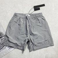 الصيف الرجال السراويل ركض السراويل الذكور مصمم السراويل الأسود الفضة الاتحاد الأوروبي حجم S-XL # 90587 ملابس النسيج العاكس