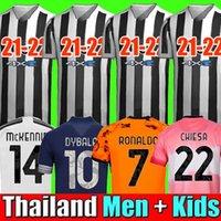 Fans Version du joueur Human Race Juventus 4ème quatrième maillot de football Maillots de football HRFC RONALDO DE LIGT KULUSEVSKI 20 21 DYBALA 2020 2021 JUVE Hommes Kit enfants