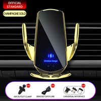 Automatic Car Phone Holder 15W Qi Wireless Charger for iPhone 12 11 XS XR X 8 Samsung S20 S10 Magnetic USB Infrared Sensor Mount