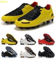 Klasik Yeni Varış Erkek Toplam 90 Lazer I SE FG Futbol Ayakkabı En Kaliteli Sınırlı 2000 Siyah Sarı Atletik Futbol Cleats Boyutu 35-45
