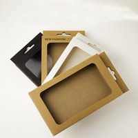 Gift Wrap Universal Brown Black No Text Print Blank Kraft Paper Box For Samsung Smart Phone Case Cover Display Retail Package