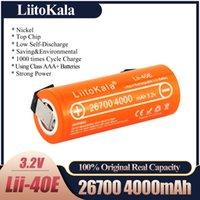 LiitoKala 3.2V 26700 4000mAh LiFePO4 Battery 35A Continuous Discharge Maximum High power battery+Nickel sheets