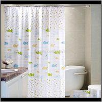Curtains Aessories Bath Home & Gardensimple Wave Waterproof Mildew Cute Fish Line Thickening Cloth Heavier Sinker Hook Bathroom Shower Curta