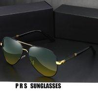 Óculos de sol de homens PRS Dia Dual Propósito Cor Mudando Polarizador Especial para Condução Night Vision Óculos de Pesca Óculos Unisex