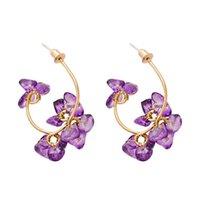Dangle & Chandelier JURAN Trendy Flower Hoop Drop Earrings Summer Dress Irregular Resin Women Fashion Jewelry 2021