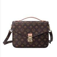 Sacos de moda clássico l saco de mensageiro retro, ombro diagonal, bolsa portátil, par de couro, estilo novo