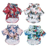 Pet Bipedal Dog Clothes Romantic and Comfortable Congratulations on Finding the Summer Seaside Hawaiian Print Go Y5HH