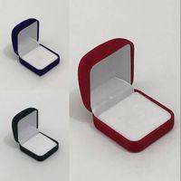 Moda Küçük Kırmızı Siyah Mavi Kadife Bloke Takı Paketi Kutusu Kılıf Takın Yüzük Saplama Küpe Depolama Ambalaj Hediye Kutuları 32 W2