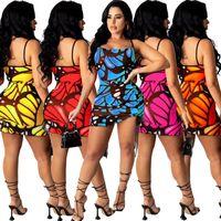 Malha Sheer Butterfly Imprimir Vestido de Envoltório de Verão 2021 Y2K Spaghetti Strap Sem Mangas Party Club Vestido Vintage Backless Beach Vestido