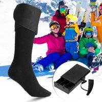 Sports Socks Feet Thermal Cycling Ski Men Women 1 Pair Heated Winter Electric Rechargeable Battery Leg Heating Warmer