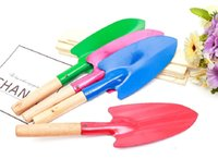 Бытовые садовые лопаты растения с деревянной ручкой железа шпатель садоводство горшечные гаджеты пляж ккф6708