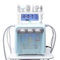 Portátil 6 em 1 hydro casca microdermoabrasão hydra facial hydrafacial limpeza profunda RF face elevador de pele apertando spa beleza
