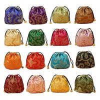 Jewelry Pouches, Bags 24pcs Silk Brocade Pouch Bag, Drawstring Coin Purse,Gift Bag Value Set