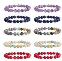 8mm Beaded Strands Bracelet Natural Stone Healing Crystal Stretch Bead Bracelets Women Men Handmade Gemstone Jewelry