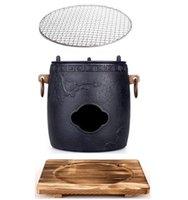 Portatile Ghisa in ghisa Barbecue Barbecue Grill Tavolo BBQ Pot Pot Pot Mini Stufa All'aperto Picnic Giardino BBQ Home Riscaldamento Forno 003