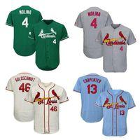 Custom St. Louis Mens Mulheres Crianças Jersey Jogadores Yadier Molina Paul Goldschmidt Matt Carpenter Harrison Bader Hongque Baseball Camisas