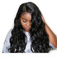 Invisectable invisible dentelle avant perruque HD pour femmes noires véritable vierge brésilienne longue vague de corps transparent HD pleine dentelle humaine perruque de cheveux humains libres