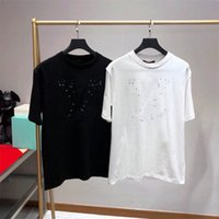 Fransız Klasik Moda Tasarımcısı Tee Gömlek Şık T-Shirt Erkekler Kadınlar Pamuk Tişört Yaz Kısa Kollu S8WQ # Tops