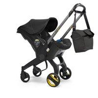 Коляски # Детская коляска 4 IN1 Автомобильное сиденье Бассиновый Высокий ландшафт Складные каретки Правмы для родов