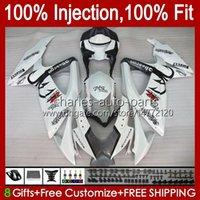 Injection Fairings For SUZUKI GSX-R750 GSXR 600 750 CC K8 GSXR-600 600CC 750CC 9HC.66 GSXR750 08 09 10 GSXR-750 GSXR600 GSX-R600 2008 2009 2010 OEM white glossy Fairing