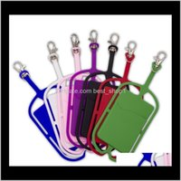 Party Favor Sile Lanyards Case Holder With Neck Strap Necklace Sling Card For Universal Mobile Cell Phone Hanging Rope Yljla A3Bhk