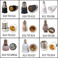 E10 E12 E14 a G9 MR16 E27 Portalampada convertitore 110V 220V Adattatore per presa di base per lampada a LED lampadina di mais