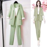 Women's Suits & Blazers for Spring Autumn Lady Women Suit Jacket +Long Pant Female Outerwear Elegant Ladies Coat Plus Size M-4XL