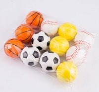 Soft Foam Ball Wrist Exercise Stress Relief Squeeze Tennis Ball Basketball Football Gift Toy Fitness Balls 6CM Diameter