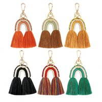 Arts And Arts, Gifts Home & Gardenbohemia Rainbow Beads Woven Tassels Fringe Diy Jewelry Bag Keychain Decor Aessories Pendant Crafts Cotton