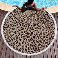Toalha de praia redonda Círculo Círculo Microfiber Yoga Tapete Toalhas multiuso para mulheres homens crianças com borlas 59 polegadas NHD8657