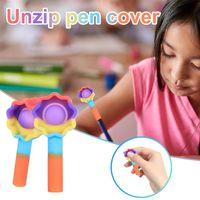 Unzip القلم غطاء مصغرة بسيطة قلادة الحسية تململ لعبة القلم غطاء غطاء للضغط الإغاثة من مونتيسوري حالة عدم التقديم قابلة لإعادة الاستخدام هدايا الضغط