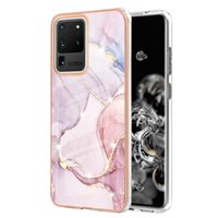 Luxury Marble 2.0MM Bling Chromed Cases For Samsung S21 Ultra A03S 166 A22 A02S 164 A32 4G 5G A52 A72 A12 S20 A11 A21S Soft IMD TPU Natural Granite Stone Rock Phone Cover