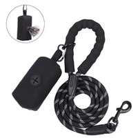 Dog Collars & Leashes Durable Large Leash With Waste Poop Bag Dispenser Training Running Rope Medium Big Strong Lead For Labrador
