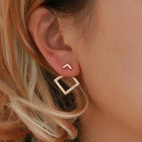Cuello ardiente de moda lindo níquel pendientes libres de joyería de moda semental para mujeres Declaración de brincos
