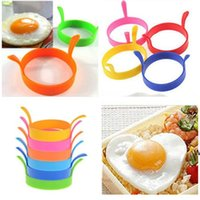 Egg frying machine Kitchen Silicone Fried Fry Frier Oven Poacher Egg Poach Pancake Ring Egg Mould Tool DHA4973