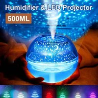 Lámpara de proyector estrella Humidificador de 500ml USB Difusor Difusor de la niebla ultrasónica LED de la noche LED para los humidificadores de aire para el hogar