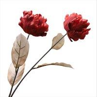 Fleurs décoratives couronnes longueur 77cm sentir tulipe faux fleur maison salon décoration de bricolage arrangement matériau bouquet de mariage
