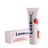 Liebe Kuss 100ml Erdbeercreme, essbarer Schmiermittel Persönlicher Schmiermittelanzug für Oralsex