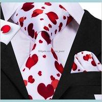 넥 세트 넥타이 패션 액세서리 인쇄 붉은 마음 패턴 망 넥타이 회의 비즈니스 결혼식 캐주얼 파티 넥타이 N3097